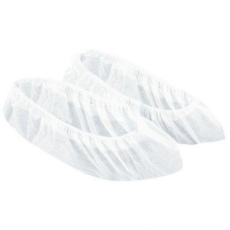 Surchaussures polypropylene  blanc uni(bte de 500 unites)