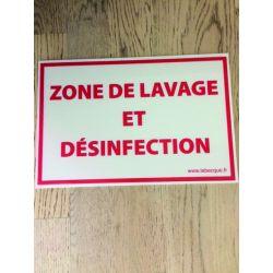 PANNEAU ZONE DE LAVAGE 20X30