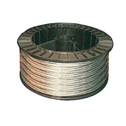 Cable acier galva d.6   7x7 le metre lineaire
